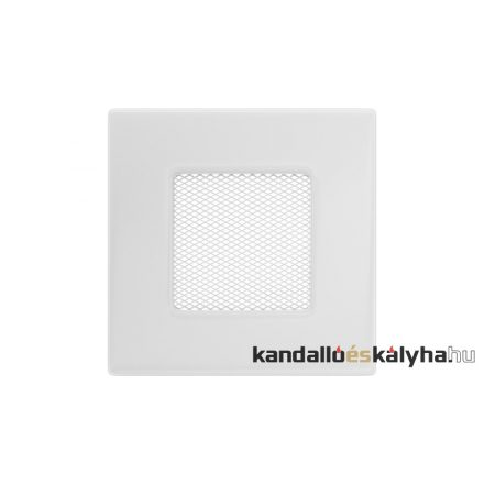 Egyszerű szellőzőrács fehér 11x11cm