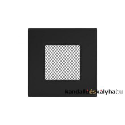 Egyszerű szellőzőrács fekete 11x11cm