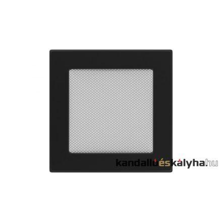 Egyszerű szellőzőrács fekete 17x17cm