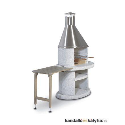 Arcus fából készült asztal - szürke - íves - 70x45cm