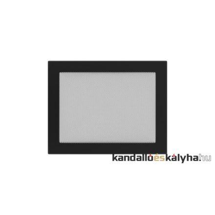 Egyszerű szellőzőrács fekete 22x30cm