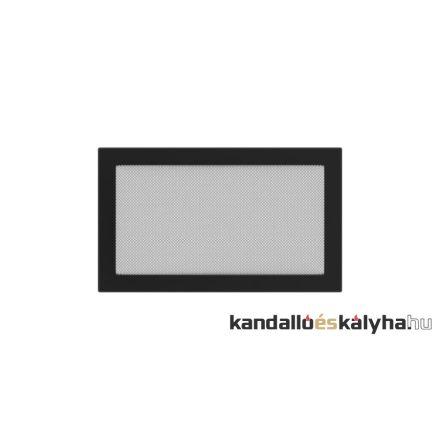 Egyszerű szellőzőrács fekete 22x37cm
