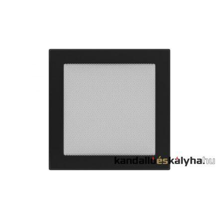 Egyszerű szellőzőrács fekete 22x22cm