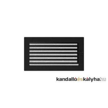 Egyszerű szellőzőrács fekete 17x30cm zsalus