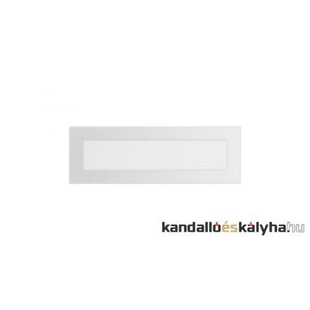 Egyszerű szellőzőrács fehér 11x32cm