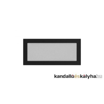 Egyszerű szellőzőrács fekete 17x37cm
