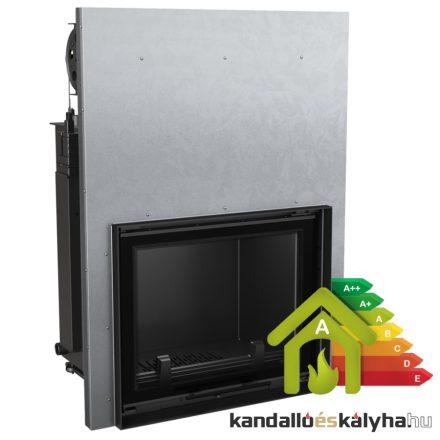 Vízteres fatüzelésű kandalló / kratki amelia 30 liftes / 28 kw / 220-as füstcső csatlakozással