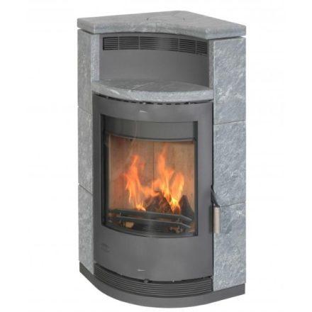 Fireplace lyon zsírkő / szürke kályhatest / 8 kw / 150-es füstcső csatlakozással