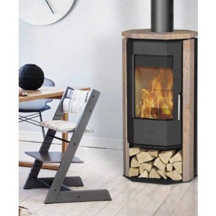 Fireplace phönizia homokkő / fekete kályhatest / 5 kw / 150-es füstcső csatlakozással