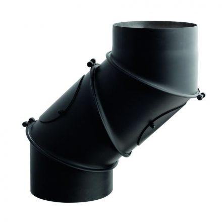 Füstcső uni könyök / 250mm