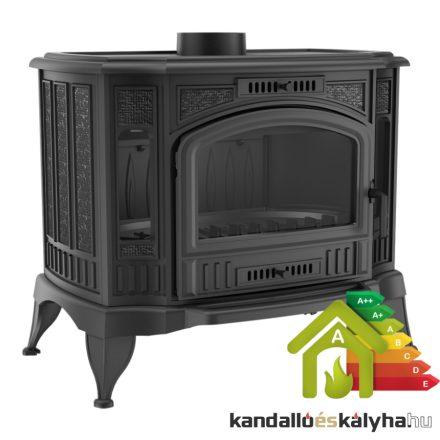Öntöttvas hordozható kályha / kratki koza k9 asdp rendszerrel / 13 kw / 130-as füstcső csatlakozással