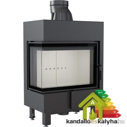 Kandallóbetét / kratki lucy 12 bal oldalüveges / 12 kw / 200-as füstcső csatlakozással