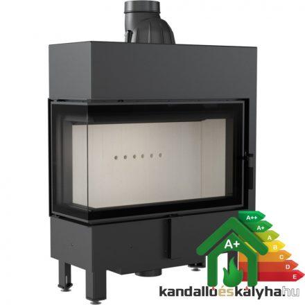 Kandallóbetét / kratki lucy 14 slim bal oldalüveges / 10 kw / 160-as füstcső csatlakozással