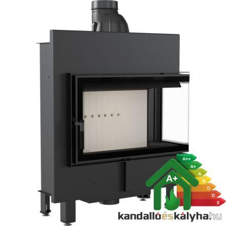 Kandallóbetét / kratki lucy 14 slim jobb oldalüveges / 10 kw / 160-as füstcső csatlakozással