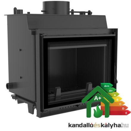 Vízteres fatüzelésű kandalló / kratki maja 12 deco / 12 kw / 180-as füstcső csatlakozással