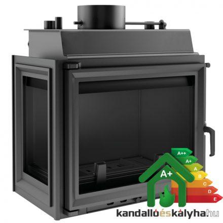 Vízteres fatüzelésű kandalló / kratki maja 12 bal oldalüveges / 8 kw / 180-as füstcső csatlakozással
