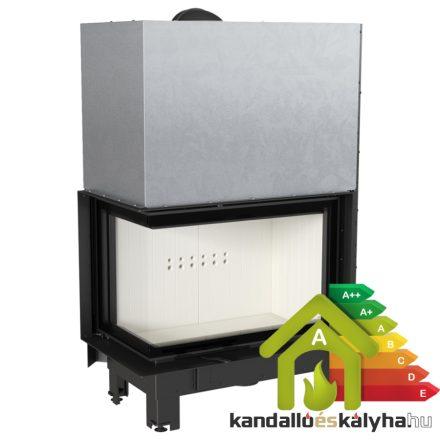 Kandallóbetét / kratki mba liftes bal oldalüveges / 17 kw / 200-as füstcső csatlakozással