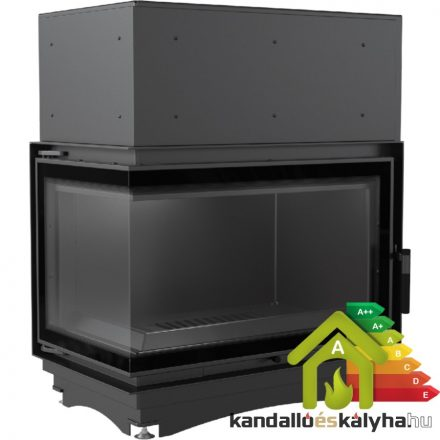 Vízteres fatüzelésű kandalló / kratki oliwia 17 bal egybenyíló oldalüveges deco üveggel / 17 kw / 200-as füstcső csatlakozással