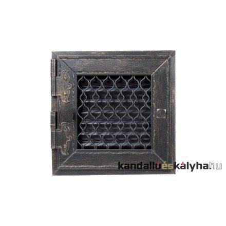 Retro szellőzőrács grafit 22x22cm (zárt)
