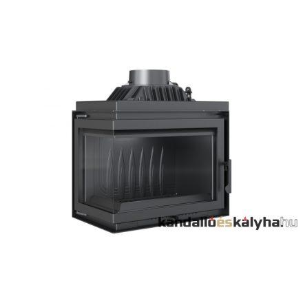 Kandallóbetét / kratki simple bal oldalüveges / 11 kw / 200-as füstcső csatlakozással
