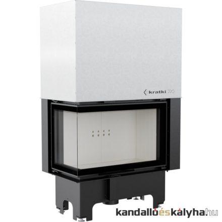 Kandallóbetét / kratki vnl 810/410 bal oldalüveges / 14 kw / 200-as füstcső csatlakozással