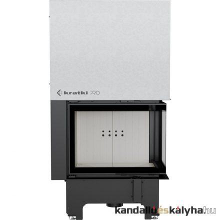 Kandallóbetét / kratki vnp 700/480 jobb oldalüveges / 12 kw / 200-as füstcső csatlakozással