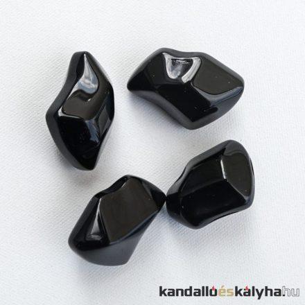 Kő dekoráció / fekete kristály / 1kg