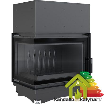 Kandallóbetét / kratki zuzia 12 eco bal oldalüveges deco / 12 kw / 200-as füstcső csatlakozással